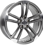"Wheelworld Wh27 Daytona Grey Full Machined 18""(EW326167)"