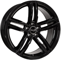"Wheelworld Wh11 Black Glossy 18"""