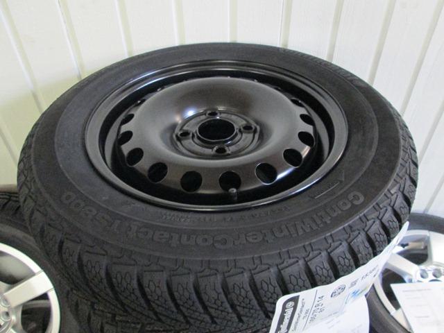 Stålfælge 14 tommer monteret med Continental TS800 165/70-14